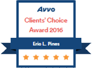 Avvo Clients' Choice Award 2016 - Eric L. Pines
